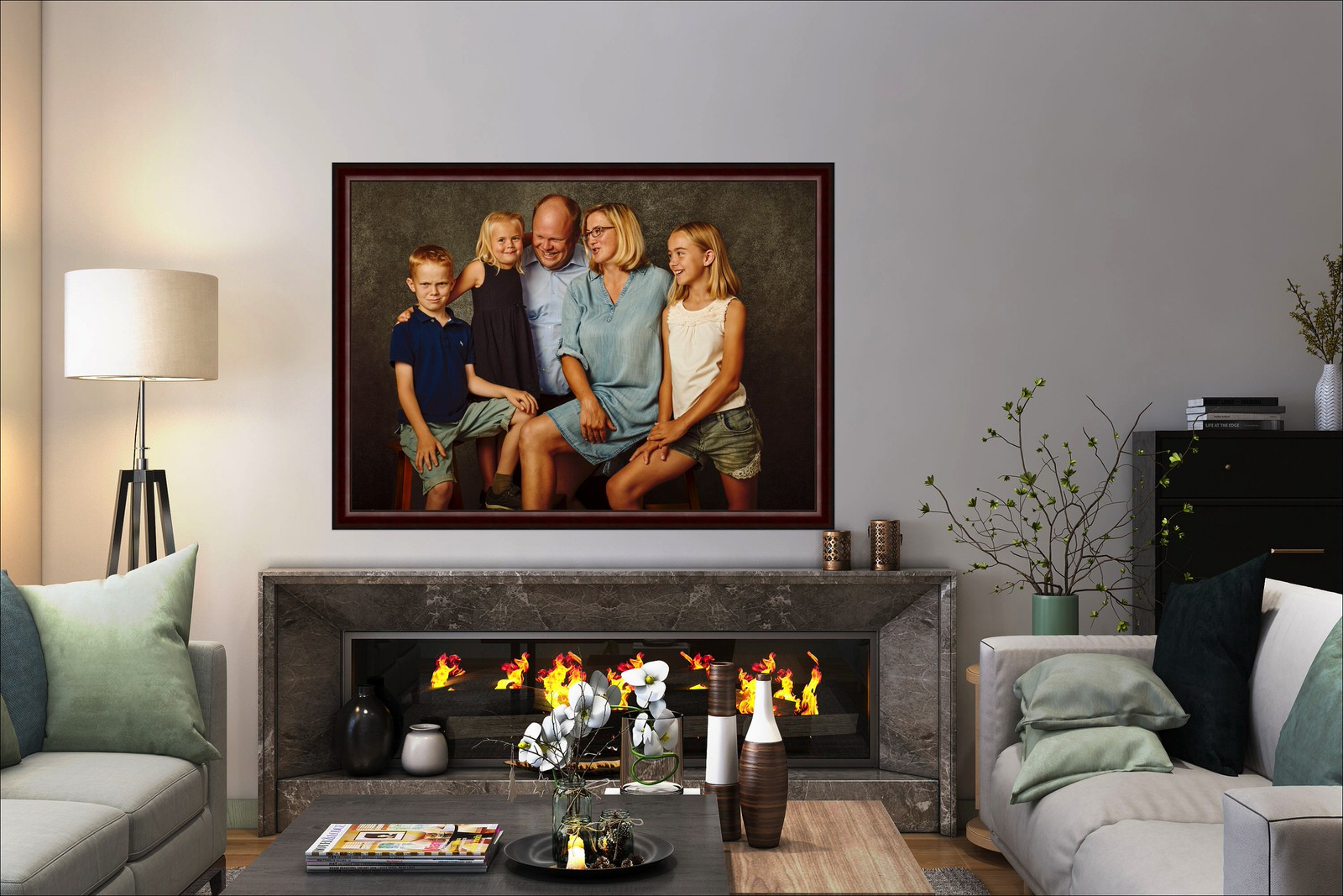 Familienfoto Fireplace